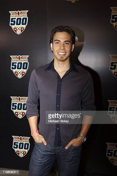 Apolo Anton Ohno seen at the Indy 500 in Speedway Indiana on May 27 2007