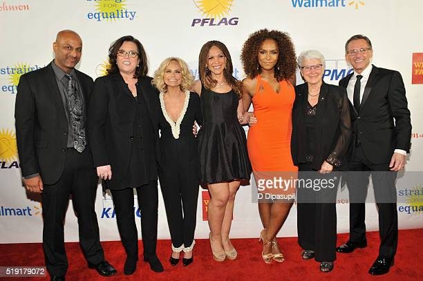 Apoorva Gandhi Rosie O'Donnell Kristin Chenoweth Melissa HarrisPerry Janet Mock Jean Hodges and Jody M Huckaby attend PFLAG National's eighth annual...