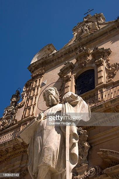Apostel in front of the Cathedral of San Pietro Modica Italy