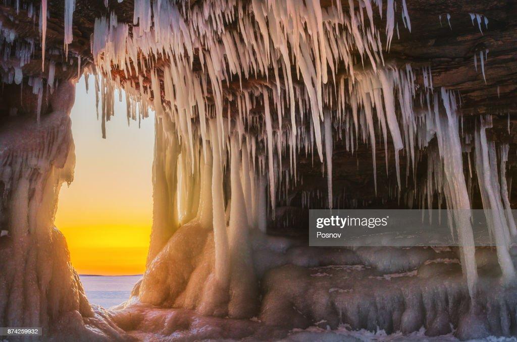 Apostle Islands Sea Caves : Stock Photo