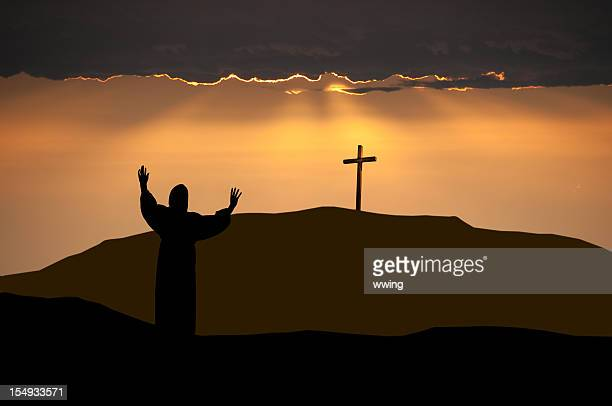 apostle on easter morning - good friday stock pictures, royalty-free photos & images