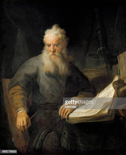 Apostle Paul by Rembrandt van Rijn oil on canvas 135x111 cm Vienna Kunsthistorisches Museum