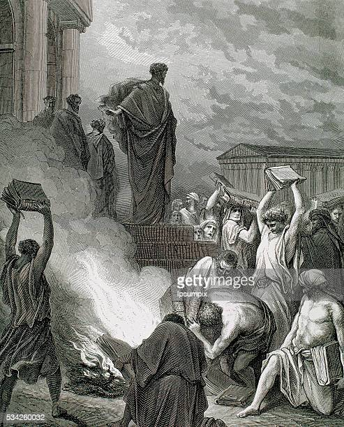 Apostle Paul Paul in Ephesus Drawing by Gustave Dore and engraving by J Ettling