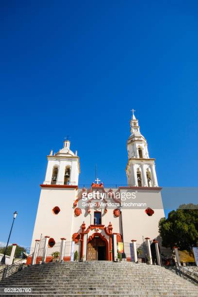 apostle santiago church - santiago, nuevo león, mexico - nuevo leon state stock pictures, royalty-free photos & images