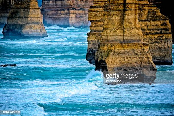 12 apostles victoria - eroded stock pictures, royalty-free photos & images