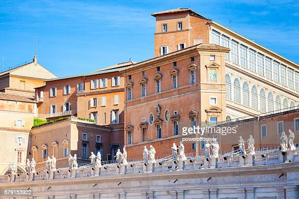 Apostolic Palace and Bernini's Colonnade at Vatican City