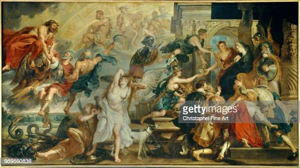 Apotheosis of Henri IV and proclamation of the regency of Marie de Medicis Rubens Peter Paul Louvre Museum France