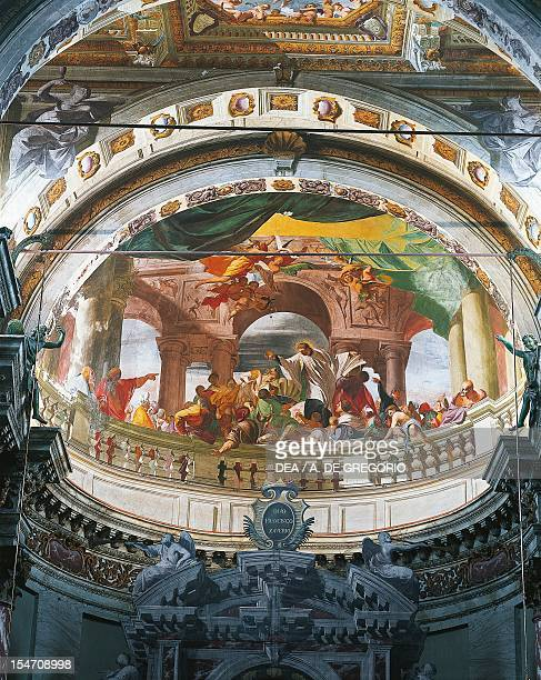 Apotheosis of St Francis Xavier 16761679 fresco by Andrea del Pozzo Cupola of the Church of Mission or St Francis Xavier or Mondovi Italy 17th century