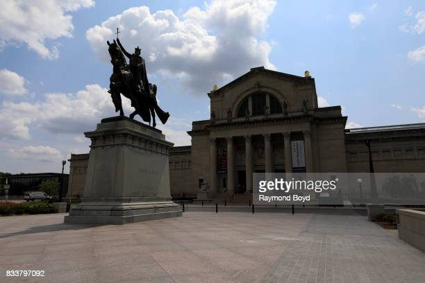 Apotheosis of St. Louis', a statue of King Louis IX of France, the namesake of St. Louis, Missouri stands outside the St. Louis Art Museum in St....