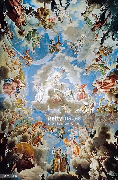 Apotheosis Pamphilj House 16671673 fresco by Francesco Cozza Palazzo Doria Pamphilj Rome Italy 17th century