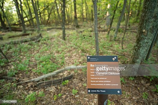 Appalachian Trail, Backcountry marker