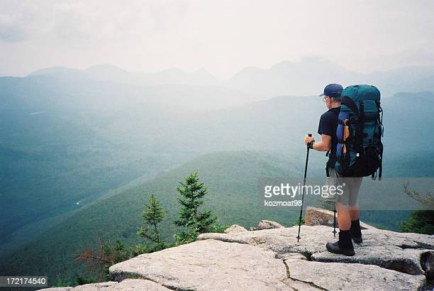 appalachian trail hiker (the journey) - new hampshire stock pictures, royalty-free photos & images