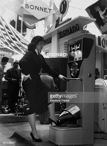 Apparatus For Shoe Polishing At Salon Des Arts Menageres In Paris On February 25Th 1954
