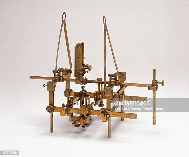 Apparatus used by Sir Victor Horsley and Richard Clarke made by Swift Son London This apparatus was used for pioneering experimental work on the...
