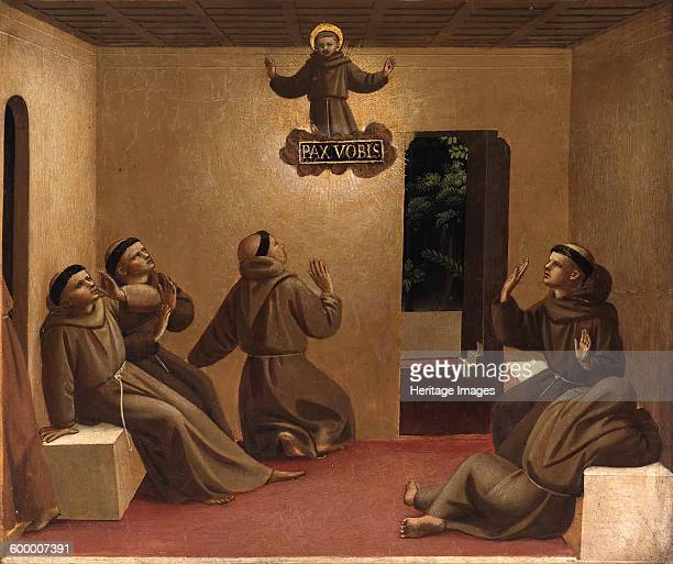 Apparition of Saint Francis at Arles ca 1429 Found in the collection of Staatliche Museen Berlin Artist Angelico Fra Giovanni da Fiesole