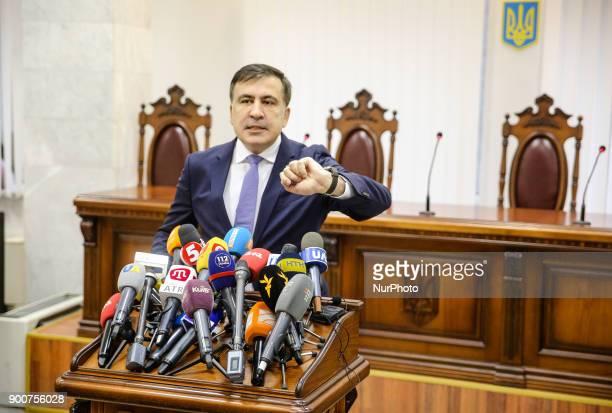 Appeal court of Kyiv hears the case on the arrest of ukrainian politic and Georgian former president Mikheil Saakashvili Kyiv Ukraine Jan 3 2017