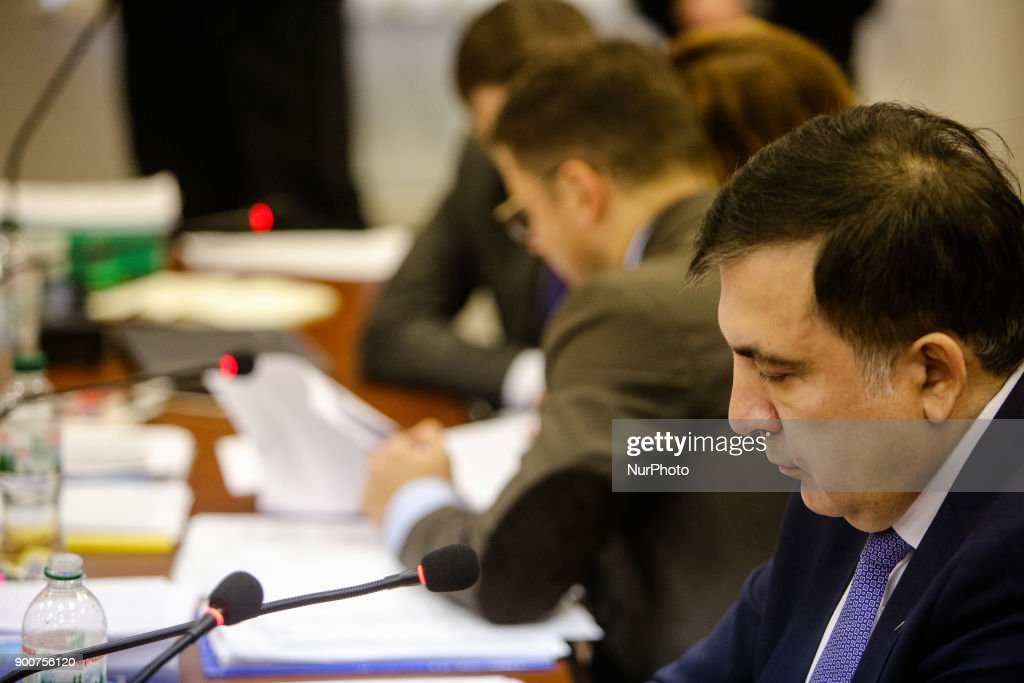 Appeal court of Kyiv hears the case on the arrest of ukrainian politic and Georgian former president Mikheil Saakashvili, Kyiv, Ukraine, Jan. 3, 2017.