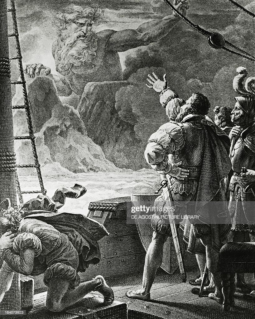 Adamastor appearance of the mythical giant adamastor to vasco da gama