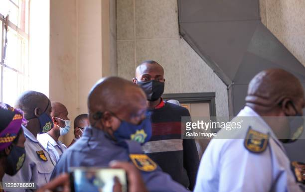 Appears at Protea Magistrate?s Court for bail ruling on September 28, 2020 in Soweto, South Africa. It is reported that the trio accused in the...