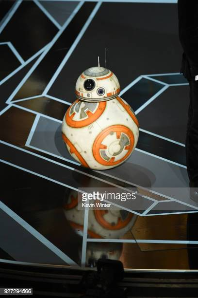 BB8 appears onstage during the 90th Annual Academy Awards at the Dolby Theatre at Hollywood Highland Center on March 4 2018 in Hollywood California