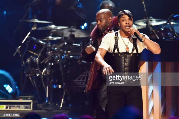 I appears onstage in honor of 2017 Inductee Tupac Shakur at the 32nd Annual Rock Roll Hall Of Fame Induction Ceremony at Barclays Center on April 7...