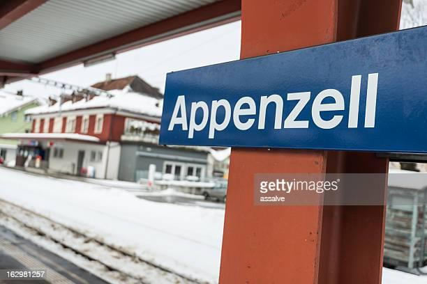 Appenzell Bahnhof in der Schweiz