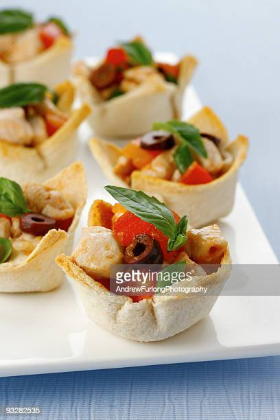Appetiser/Canape Tomato,Olive, Chicken and basil