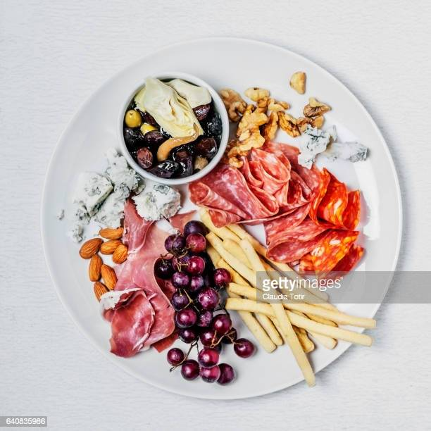 appetizer - antipasto stock pictures, royalty-free photos & images