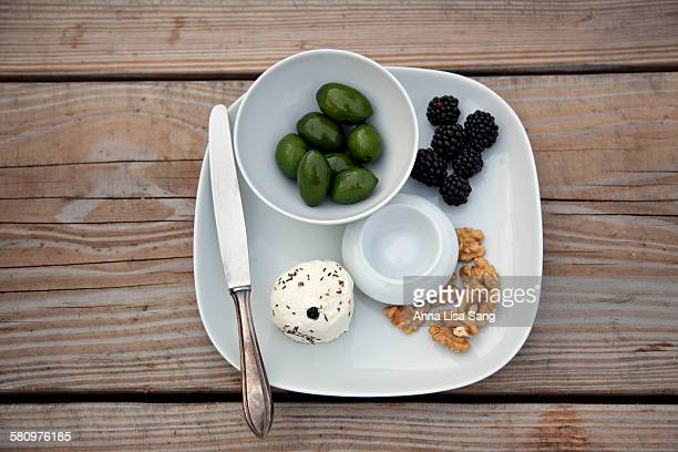 Appetizer plate on a wooden table
