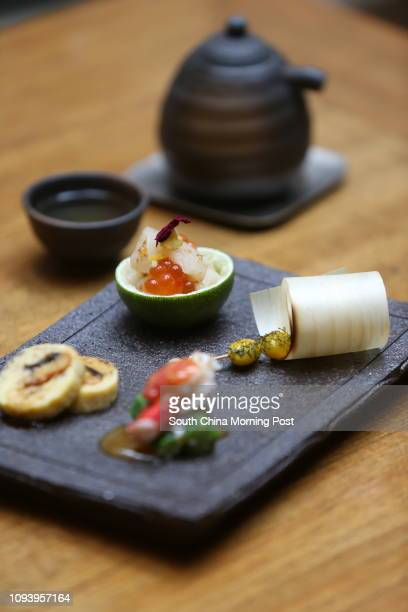 Appetizers at Kyoto Joe which is one of the 6 course Japanese Art Tasting Menu by Kyoto Joe This is part of the 'Savouring Art 2017' a campaign...