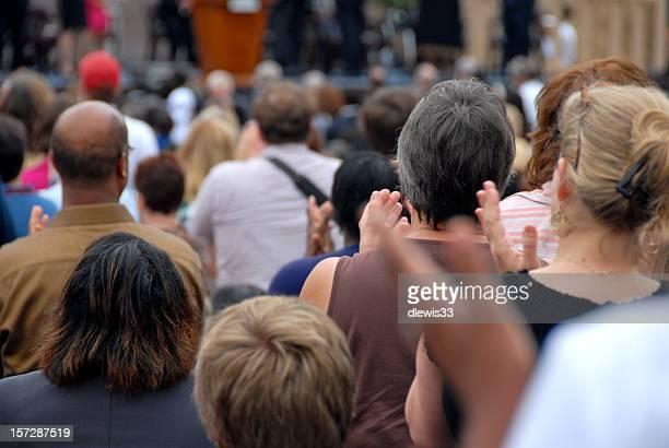 熱心な公共イベントの群衆