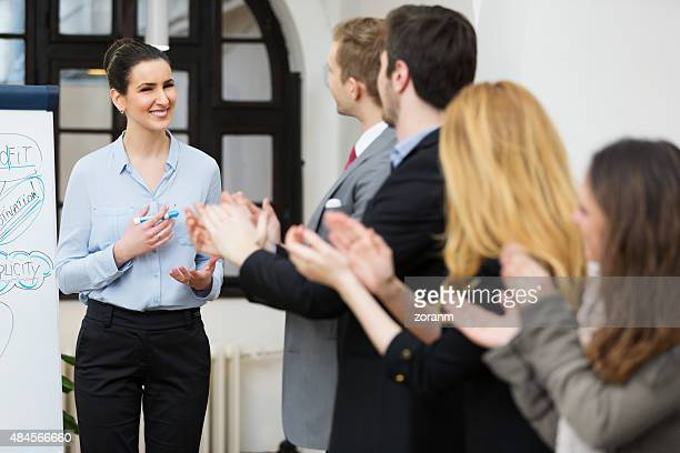 Applause after sucessfull presentation