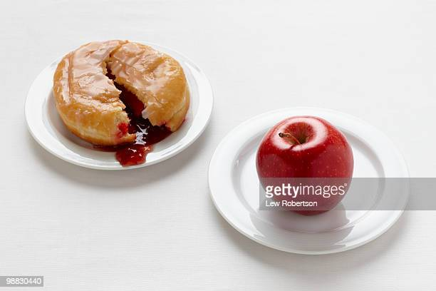 Apple and Doughnut