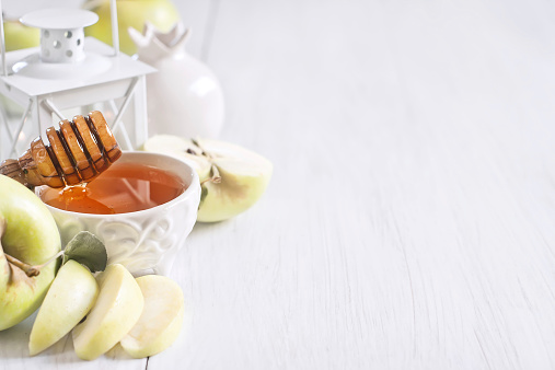 Apple and honey background 514610857
