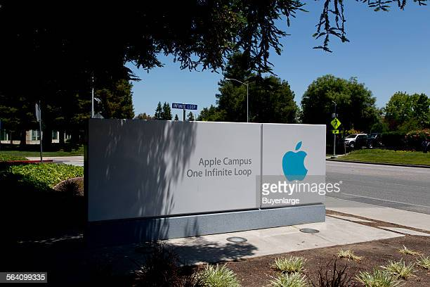 Apple Campus sign One Infinite Loop Cupertino California
