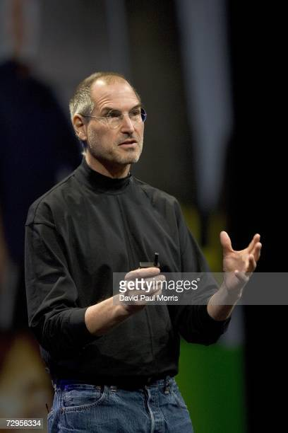 Apple CEO Steve Jobs delivers his keynote speech at Macworld on January 9, 2007 in San Francisco, California. During the keynote Jobs introduced the...