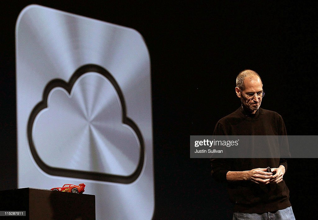 Steve Jobs Introduces iCloud Storage System At Apple's Worldwide Developers Conference : News Photo