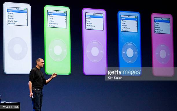 Apple CEO Steve Jobs introduces the new iPod Nano which will replace the iPod Mini In contrast with the Mini which is hard drivebased the Nano relies...