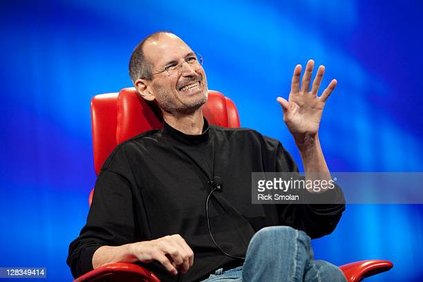 Apple CEO Steve Jobs speaks at All Things Digital June 1, 2010 in Rancho Palos Verdes, California. Jobs spoke about where he thought the industry was...