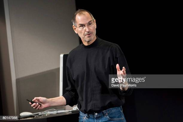 Apple CEO Steve Jobs speaks at the Apple headquarters March 6, 2008 in Cupertino, California. Apple introduced a new iPhone software developers kit...