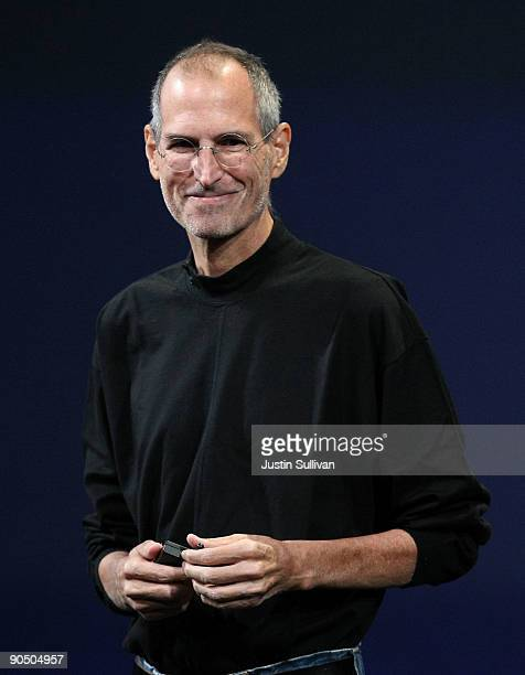 Apple CEO Steve Jobs speaks during a special event September 9, 2009 in San Francisco, California.