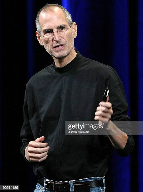 Apple CEO Steve Jobs speaks during a special event September 9, 2009 in San Francisco, California.Jobs announced a new version of iTunes, new pricing...