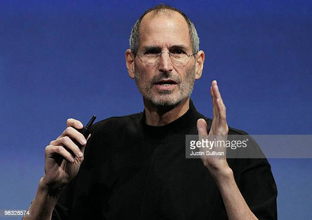 Apple CEO Steve Jobs speaks during an Apple special event April 8 2010 in Cupertino California Jobs announced the new iPhone OS4 software