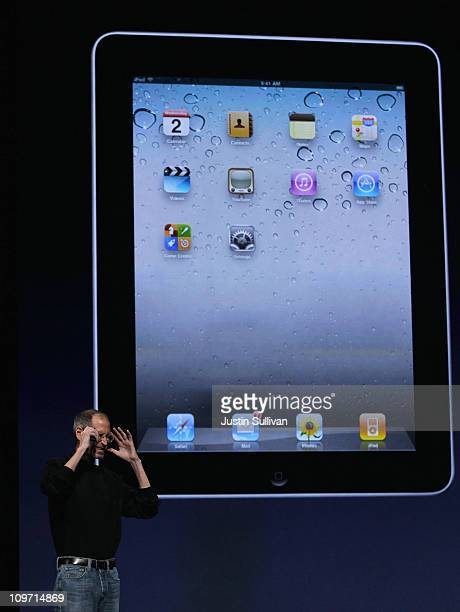Apple CEO Steve Jobs speaks during an Apple Special event at the Yerba Buena Center for the Arts on March 2, 2011 in San Francisco, California. Apple...