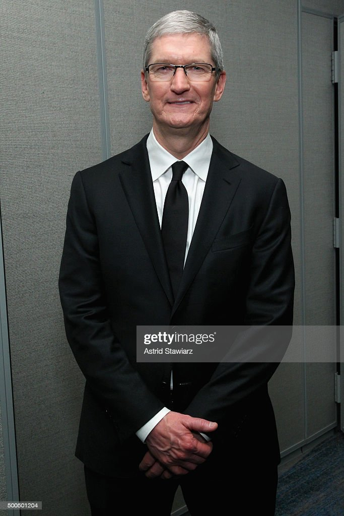 Apple CEO Tim Cook attends as Robert F. Kennedy Human Rights hosts The 2015 Ripple Of Hope Awards honoring Congressman John Lewis, Apple CEO Tim Cook, Evercore Co-founder Roger Altman, and UNESCO Ambassador Marianna Vardinoyannis at New York Hilton on December 8, 2015 in New York City.