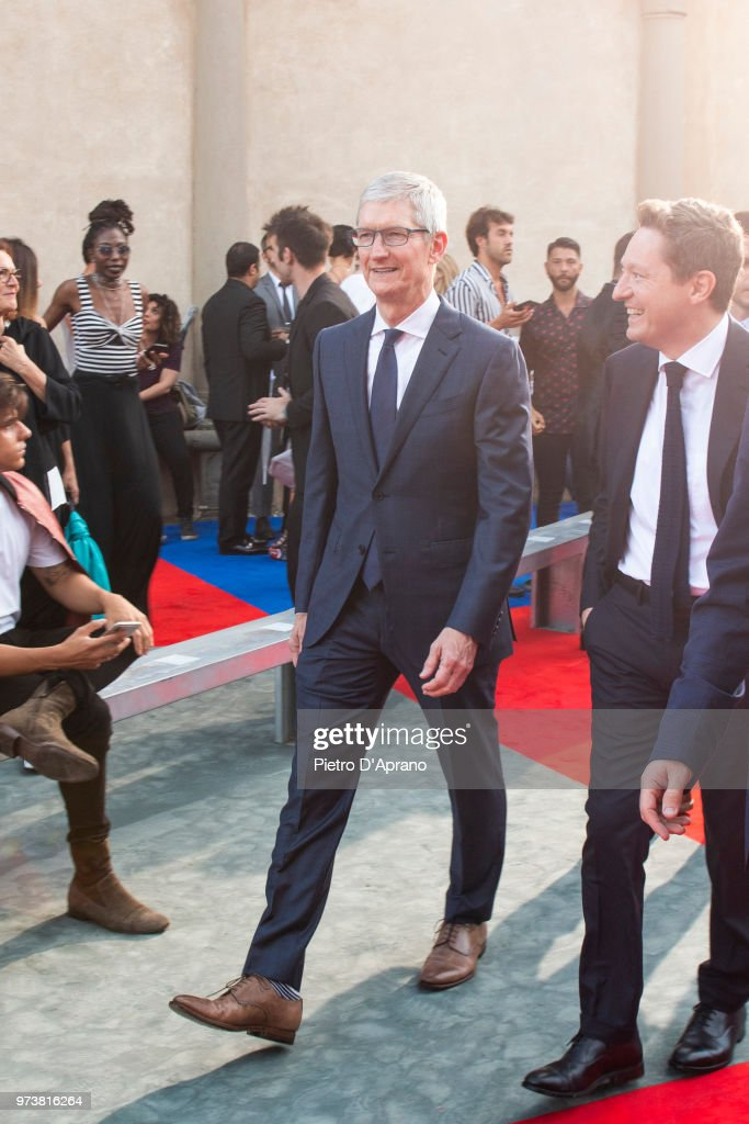 Apple CEO Tim Cook attends Roberto Cavalli show during the 94th Pitti Immagine Uomo on June 13, 2018 in Florence, Italy.