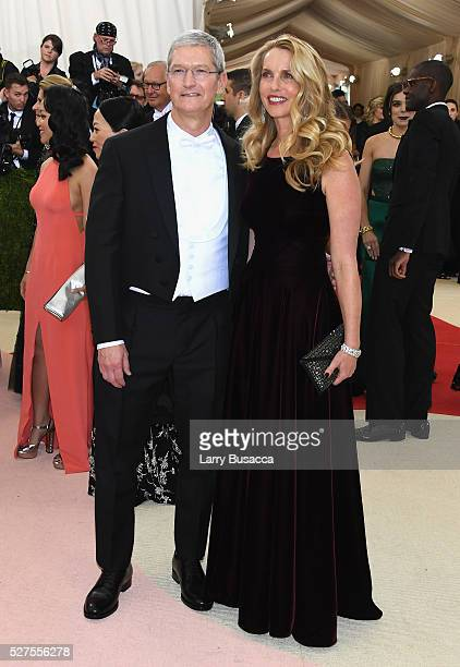 Apple CEO Tim Cook attends the Manus x Machina Fashion In An Age Of Technology Costume Institute Gala at Metropolitan Museum of Art on May 2 2016 in...