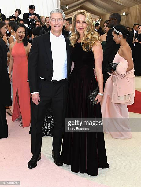 Apple CEO Tim Cook attends the 'Manus x Machina Fashion In An Age Of Technology' Costume Institute Gala at Metropolitan Museum of Art on May 2 2016...