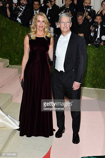 Apple CEO Tim Cook attends the 'Manus x Machina Fashion in an Age of Technology' Costume Institute Gala at the Metropolitan Museum of Art on May 2...