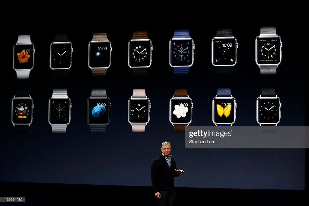 Apple Debuts New Watch : News Photo